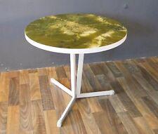 Beistelltisch Cocktailtisch Couchtisch Tisch 70er 70s Design Marmorstruktur grün