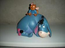 Extremely Rare! Winnie the Pooh Eeyore & Roo Lying Down Big Figurine Statue