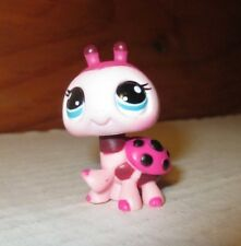 Littlest Pet Shop Pink Black Ladybug Bug Baby #1423 Blue Dot Eyes Hasbro LPS