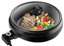 Indoor Grill Pot Skillet by CHEFMAN 3-IN-1 Versatile Slow Cook Steam RJ05-R