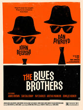 vintage retro style Blues brothers poster image metal sign tin wall door plaque