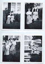 Vintage 1950s Halloween photos lot (4); Trick-or-treat, little girls costumes