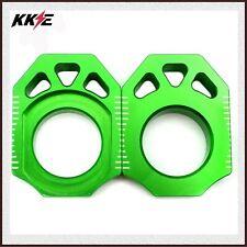 Rear Axle Blocks Chain Adjuster KAWASAKI KX125 KX250F 04-19 KX450F 06-19 Green