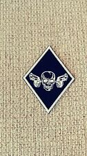 Diamond Patch with Skull & Pistols HARLEY  1%er White & Black