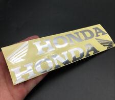 Reflective Silver Wing Badge Emblem Decal for Honda CB CBR CBF Racing Motorcycle