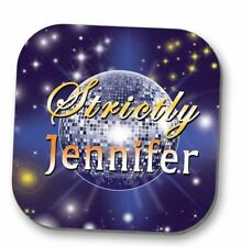 Personalised coaster- Strictly Come Dancing style drink mat - Add a Name