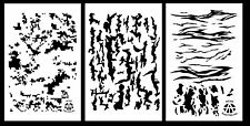 "3Pack!  Camouflage Stencils Duracoat 14"" -  Digicam Tree Bark Tiger Stripe Camo"