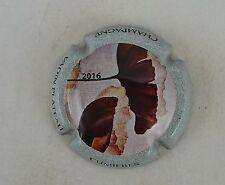 capsule champagne VADIN PLATEAU fleur cocquelicot 2016 contour gris