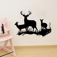 Deer Vinyl Wall Sticker Christmas Home Removable Art Decal Living Room Decor