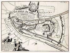 MAP ANTIQUE 1703 AMSTERDAM MORTIER LIEGE CITY PLAN REPLICA POSTER PRINT PAM1631