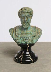 """Marcus Aurelius Bust (Small) - Made in Europe - 8 CM / 3.1"""""""