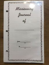 Missionary Journal Filler Pages