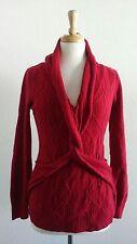 NICOLE MILLER Women's Red Sweater Sz S