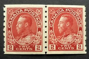 CANADA #127i VF  NH** PASTE UP PAIR FRESH COLOR & GUM CAT.$375 CAN.FREE SHIPPING