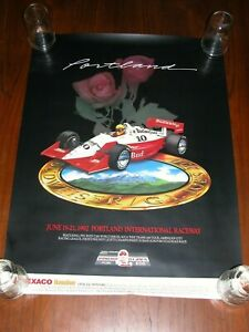 Poster 1992 Grand Prix of Portland CART PPG Indy Car Michael Andretti Hat Trick