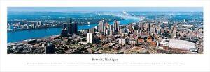 Detroit, Michigan, USA Skyline Panoramic Image Print Pressure, 100 CM, USA