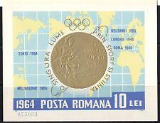 Romania 1964 Olympic Gold Medal Winners Minisheet MNH