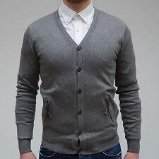 Cardigan pullover maglioncino maglione uomo Notting hill grigio tasche TG S