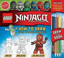 LEGO NINJAGO: How to Draw Ninja, Villains and More by Pat Murphy (Mixed media...