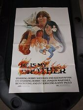Vintage 1 sheet 27x41 Movie Poster He is My Brother 1975 Bobby Sherman