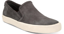 $158 size 10.5 FRYE Patton Graphite Suede Slip On Sneakers Mens Shoes NEW