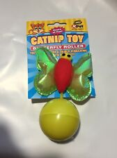 VOTOYS XPET WEIGHTED BUTTERFLY ROLLER CAT TOY COLORS VARY. FREE SHIP TO THE USA
