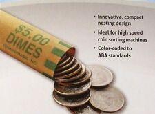 50 Dime Preformed Shotgun Wrappers Coin Storage MMF Bank Tube Rolls Dimes