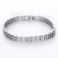 Men's Women Stainless Steel Chain Bracelet Wristband Cuff Bangle Jewelry Punk
