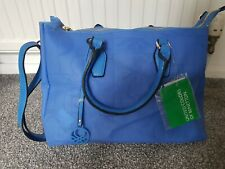 Benetton Blue Large Bag. PVC.New With Tags.Cross Body And Top Handles