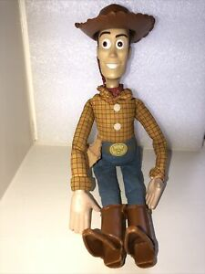 """Woody Toy Story Fabric Body  11"""" Tall  Plastic Hat And Boots"""