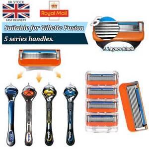 5-layer Razor Blade for Gillette Fusion Proglide Power Replacement Shaver Men UK
