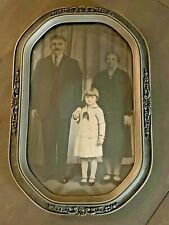 Vintage Frame w/Bubble Glass & Family Photo or Print