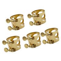 5pcs Tenor Saxophone Metal Ligature Clip Clamp Buckle for Sax Mouthpiece
