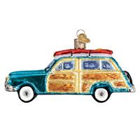 Old World Christmas SURF'S UP WAGON (Woody Wagon) (46071)X Ornament w/ OWC Box