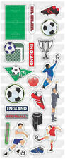 """BEAUTIFUL FUN STICKERS """" ENGLAND FOOTBALL """" FOR CARDS & CRAFT"""