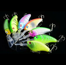 7PCS/lot Topwater Minnow Fishing Lure Artificial Crank Hard Wobblers Swimbait