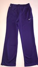 $60 Nike Womens Size Medium Dri Fit Athletic Training Sweat Pants Purple White