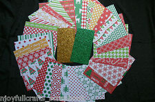 CHRISTMAS 2 -30 Designs 6x6 Paper Pack RED GREEN GOLD WHITE Mix + 2 sml Glitter