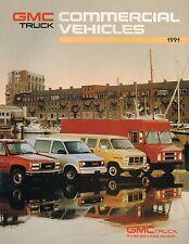 1991 GMC VAN/CHASSIS/MAGNAVAN/VANDURA/CREW PickUp Truck Brochure w/Color Chart