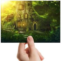 "Forest Tree House Pixie - Small Photograph 6"" x 4"" Art Print Photo Gift #14078"