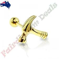 316L Surgical Steel Gold Ion Plated Hammer Cartilage/Tragus Stud