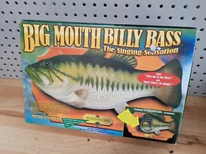 New BIG MOUTH BILLY BASS 1998 Original NEW NEVER USED  NEW never out of box