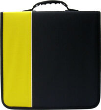 (6) CRY-E360YE 360 Disc Capacity Black & Yellow CD DVD Binders Storage Media 350