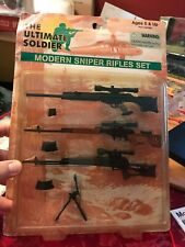 ULTIMATE SOLDIER MODERN SNIPER RIFLES SET NEW ON CARD!