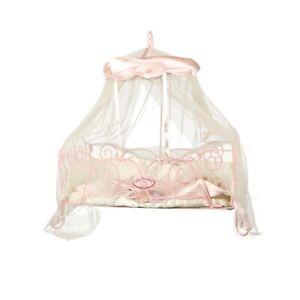 Baby Annabell - wunderschönes Bett aus Metall mit Himmel, Herzkissen und Decke