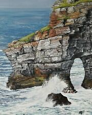"Paintings of Donegal - Marble Arch, Horn Head(Framed)    24"" x 18"""