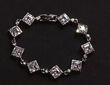 Stardust-Art Deco Cubic Zirconia Wedding Tennis Bracelet(Cl34)
