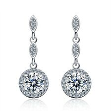 925 Sterling Silver Cubic Zirconia Fashion Drop Earrings | Free Fast Shipping