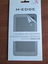 NIB 2-Pack M-Edge Kindle Fire Anti-Glare Screen Protectors & Cleaning Cloth Gift