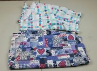fashion jasco scrub tops multicolored hearts size xl lot of 2